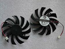75mm ATI GTX460 GTX560 GTX580 R6870 Fan PLD08010S12HH 2pin 12V 0.35A #M358 QL