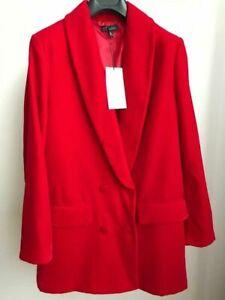 Título Original Zara Rojo Chaqueta Tamaño S De Blazer Detalles Ver Bnwt Terciopelo Largo jLUpSzGMVq