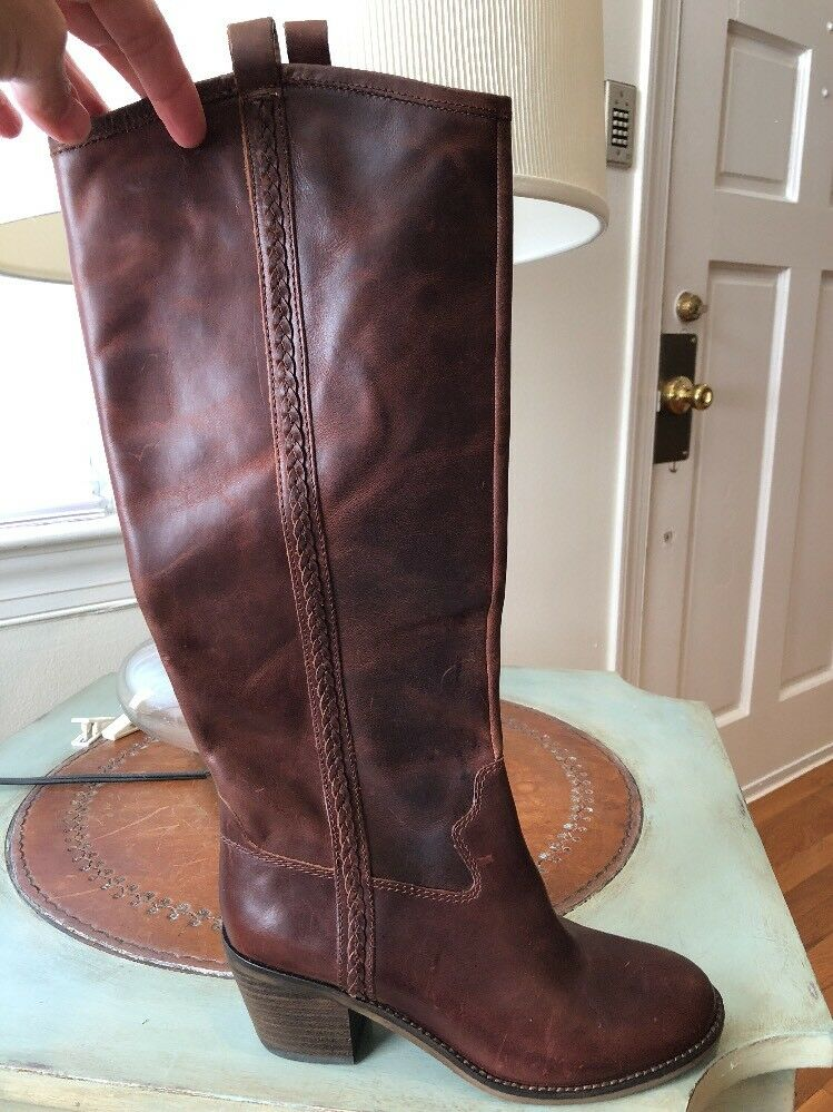 NWOB LUCKY BRAND BROWN BROWN BROWN LEATHER EQUESTRIAN RIDING BOOTS WOMEN'S 6M Retail  219 3e8fdb