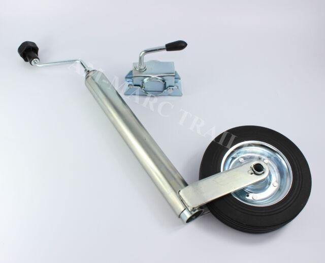 Jockey Wheel Split Clamp 48mm Trailer Caravan Camping Galvanized Puncture Proof