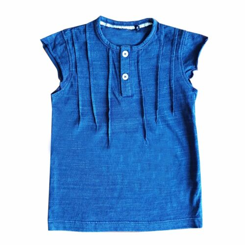 Baby Toddler Child 100/% Cotton denim Colour top FREE POSTAGE /& PACKAGING