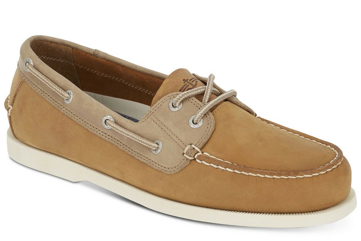 Uomo Dockers Vargas Tan Pelle Boat Shoes [90-30412]