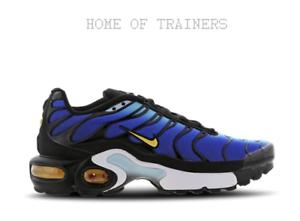 cfc732ee4e Nike Tuned 1 Og Hyper Blue Black White Kids Boys Girls Trainers All ...