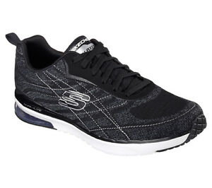 Details about Skechers Men's Air Infinity BlackWhite Memory Foam Trainers