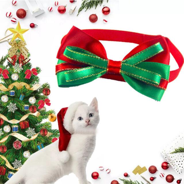 Christmas Pet Dog Cat Bowties Ties Holidays Bow Tie Collar Groomings Gift Pro~
