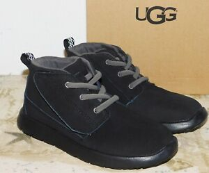 a3d7b1e20ab Details about NEW TODDLER BOYS SIZE 11 BLACK UGG CANOE CHUKKA BOOTS SHOES  WATER RESISTANT