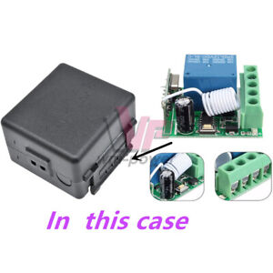 433MHz DC12V 1 Kanal-Learning-Code Wireless Remote Control Relay-Modus RS #