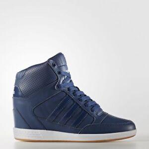 9c37600c4e5 Adidas NEO Super Wedge Women s Sports Sneakers AW3969 Hi Tops Blue ...
