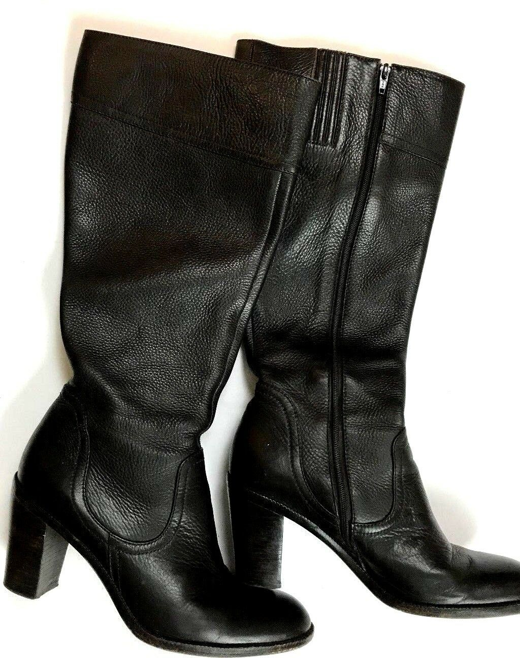 Ann Taylor Women's Black Leather Knee High Boot Size 7.5 E