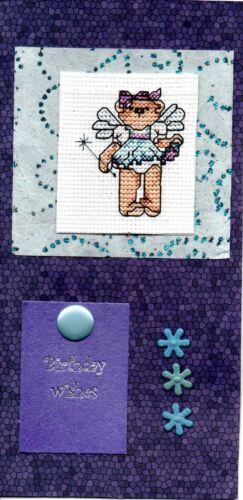 teddies Ballet shoes Handmade dresses Ballerina /& Fairy Cross Stitch Cards