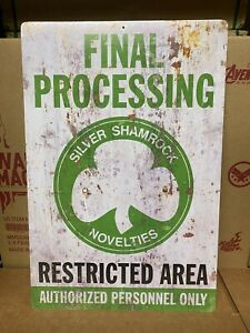Halloween III Silver Shamrock Final Processing Aluminum Sign Trick or Treat New