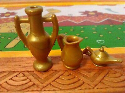 PLAYMOBIL X2 JARRONES JARRAS DORADAS PIRATAS ROMANOS MEDIEVAL OESTE EGIPCIOS