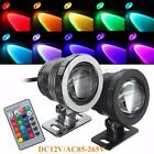 10W RGB LED Light Fountain Pool Pond Spotlight Underwater Waterproof + Remote US