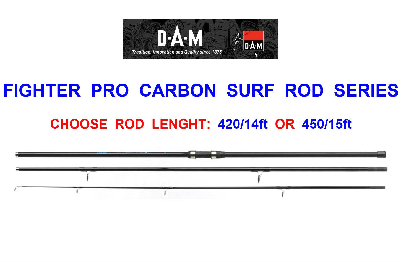 DAM FIGHTER PRO CARBON SURF ROD SERIES PIER BEACH SEA FISHING BEACHCASTER ROD