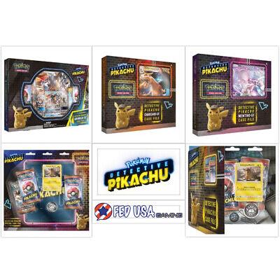 Pokemon TCG Detective Pikachu Ultimate Trainer Kit 3 GX Boxes + 2 Case Files