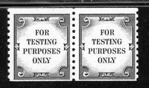 USAstamps-Unused-VF-US-For-Testing-Purposes-Only-Coil-Pair-Scott-TD107-OG-MNH