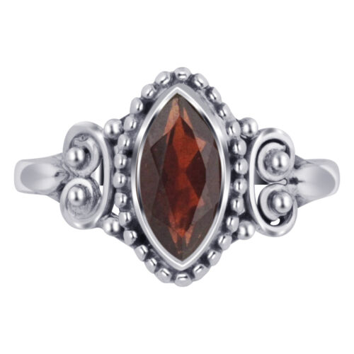 925 Argent Sterling Marquise Grenat Gemme Bali Women/'s ring
