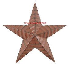 "Rustic Barn Star Red Rippled Americana Look Texas Tin Metal Wall Decor 17 ½"""