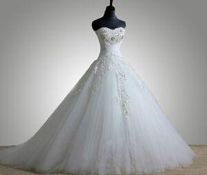 Noblest-Custom-white-ivory-wedding-dress-bride-gown-size-2-4-6-8-10-12-14-16-28