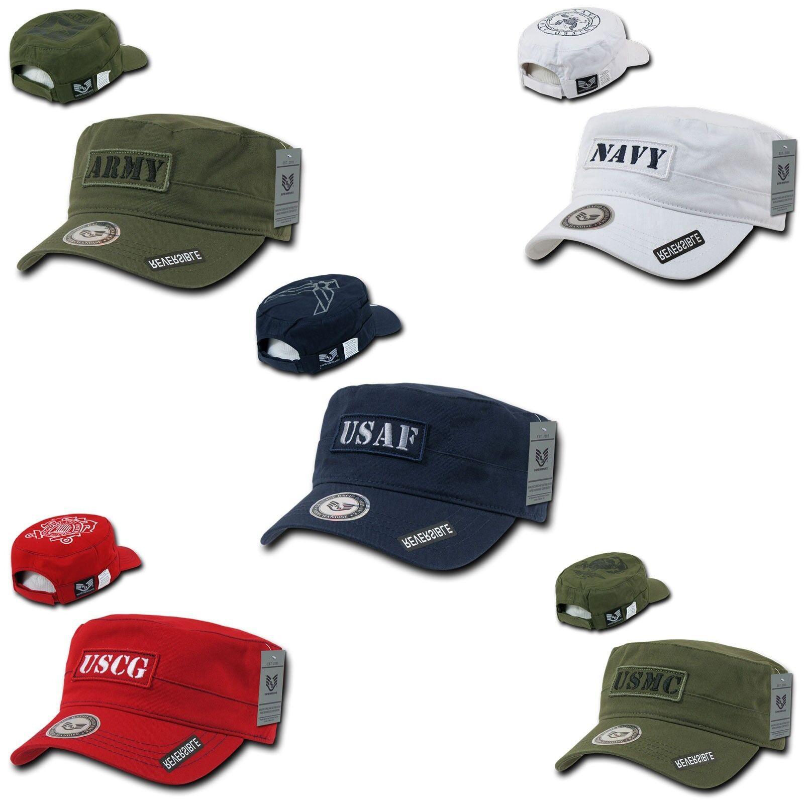 US Army Navy USMC USCG Fatigue USAF BDU Reversible Patrol Fatigue USCG Cadet Cotton Caps Hats 2c441b