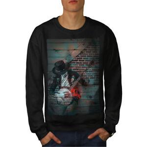 Noir Sweatshirt Nouveau Hommes Graffiti Music Street Art drBtsQChx