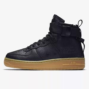 Details about Nike Big Kid's SF Air Force 1 Mid (GS) Shoes NEW AUTHENTIC BlackGum AJ0424 001