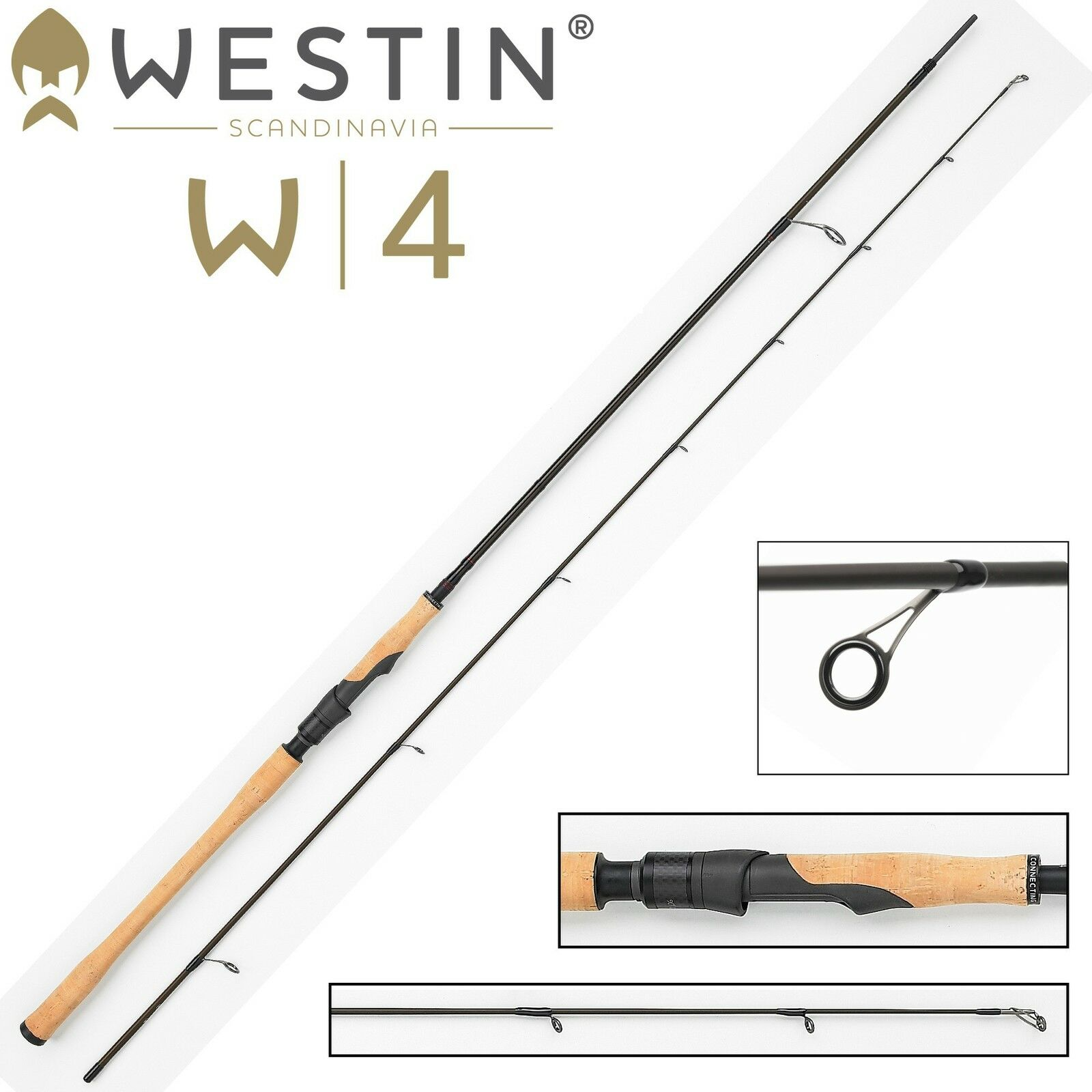 Westin W4 Spin 300cm M 7-30g Spinnrute für Meerforellen Blinkerrute