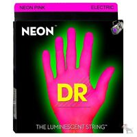 Dr Strings Npb-45 Hidef Neon Pink Coated Medium Electric Bass 45-105