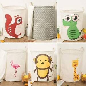 Home Storage & Organization Confident Foldable Round Home Organizer Cotton Storage Baskets Bag For Baby Nursery Toys Laundry Baby Clothing
