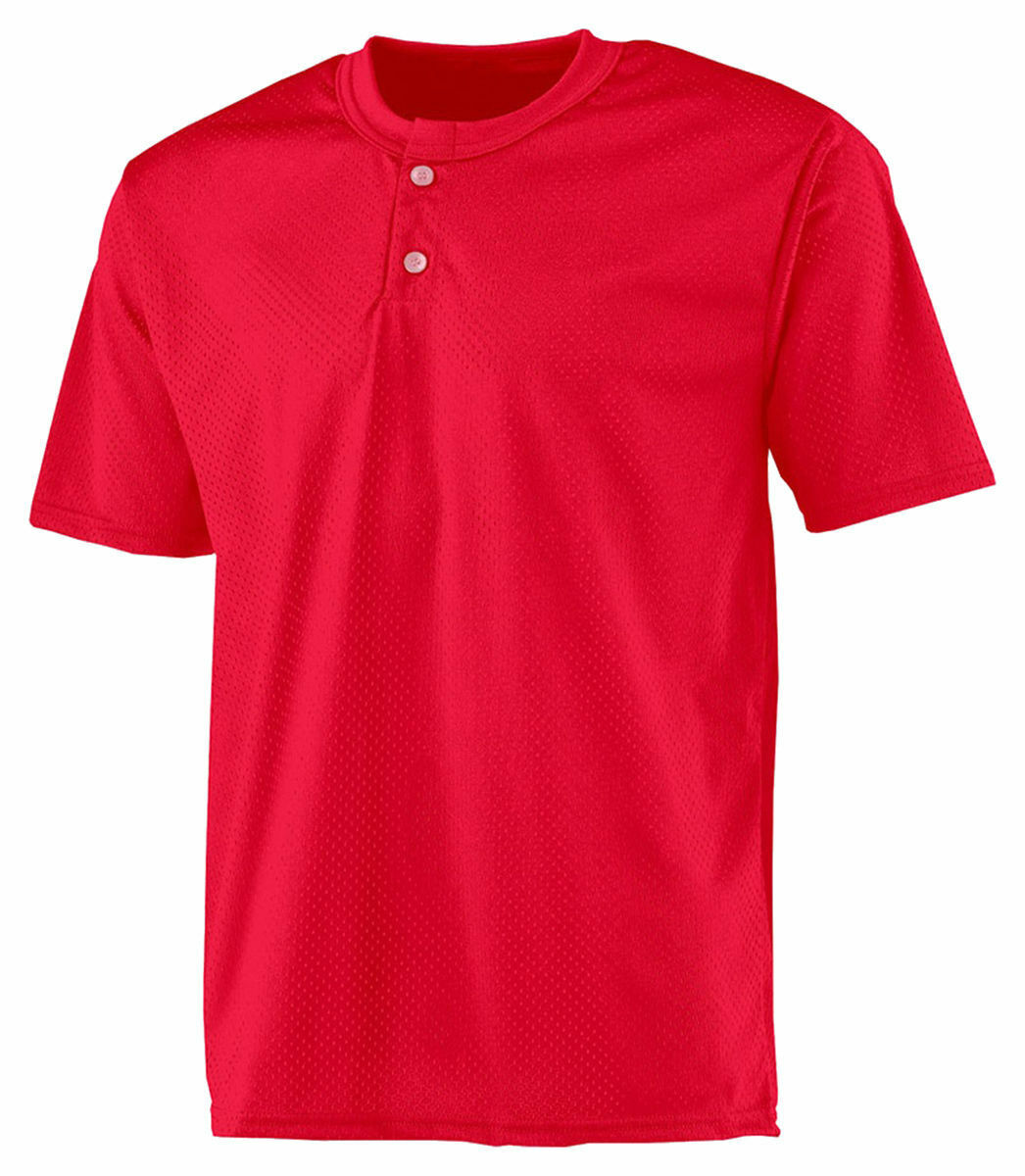 A4 Men's Moisture Wicking Odor Resitant Two Button Front Mesh Henley. N4130