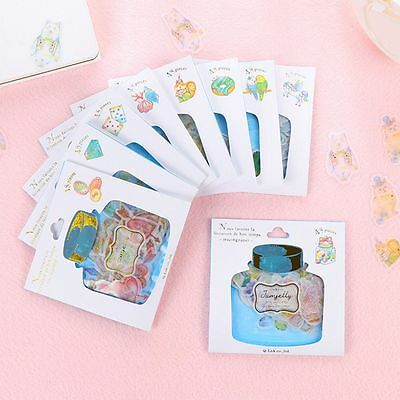 Fashion Baking Greetings Bronzing Sticker Package 48Pcs Hand Diary Stickers
