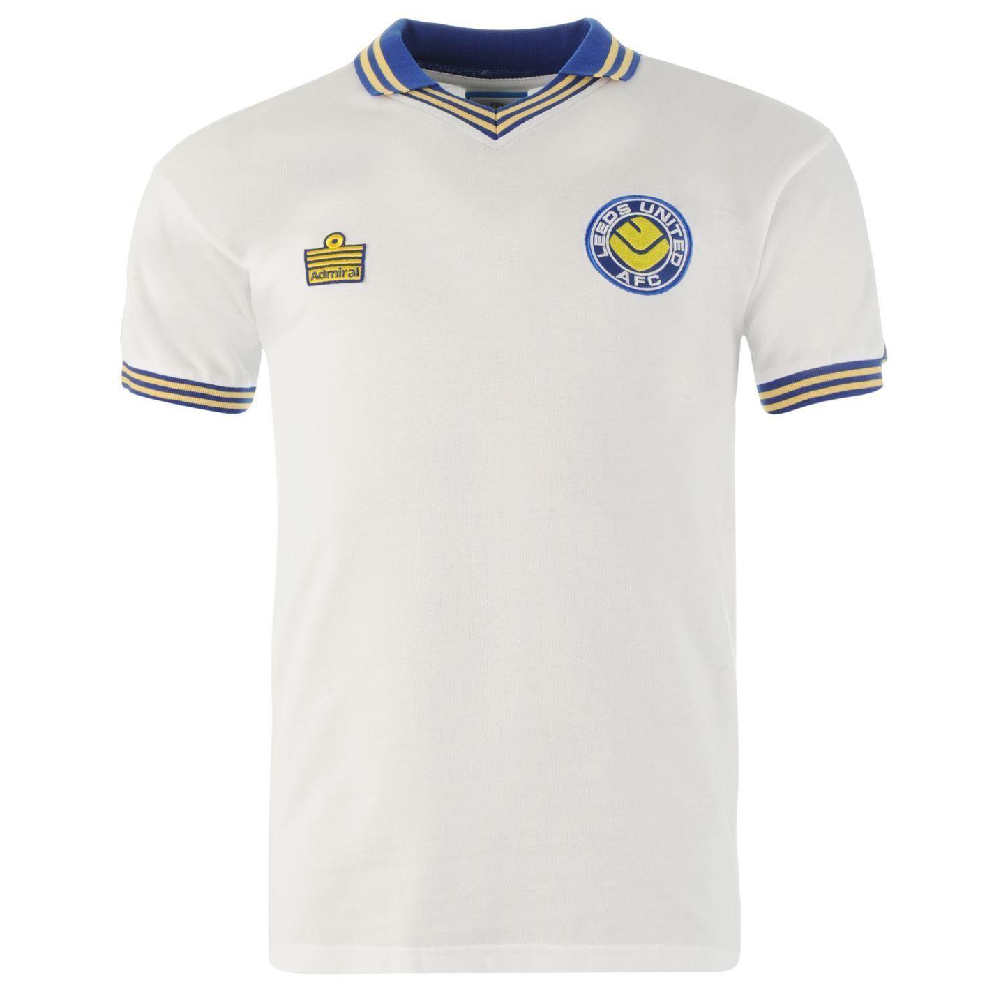 Leeds United 1982 Retro Home Jersey para hombre blancoo Fútbol Ventilador Camisa Prenda para el torso Camiseta