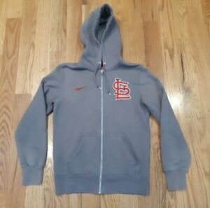 size 40 2b2e0 2a0c2 Details about NIKE St Louis Cardinals Womens Small Gray Zip Up Hooded  Sweatshirt