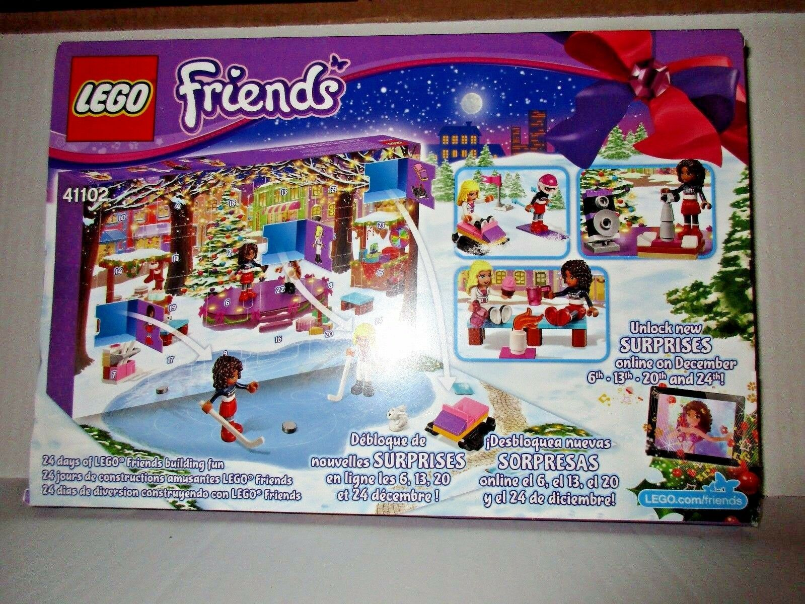 LEGO Friends ADVENT CALENDAR 41102 Noël Vacances à thème Building Toy Kit