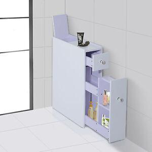 Image Is Loading Bathroom Floor Cabinet Cupboard Modular  Shelves Toiletries Toilet