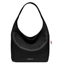 Paypal COD Michael Kors Bag 30S6SL1L7L MK Lena Large Leather Shoulder Bag Black