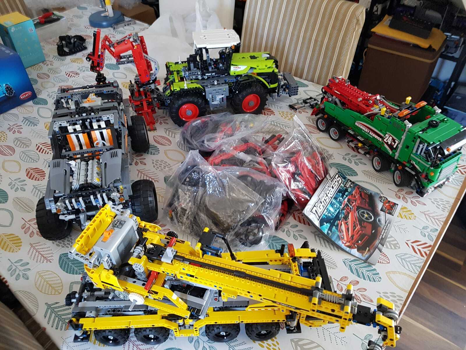 Over 500 worth of Technic Power Functions sets all built built built once 98e
