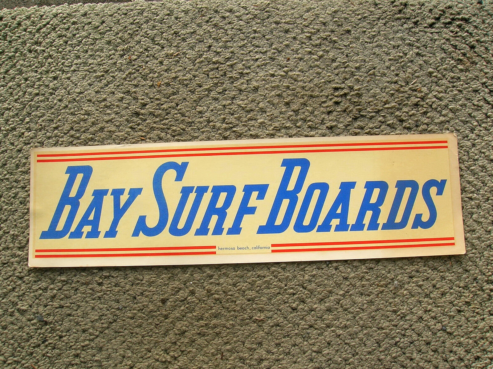 Rare large Bay surf boards vintage water slide decal surfing 1960s hermosa beach