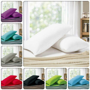 Pair-of-QUEEN-KING-Size-Pillowcases-1000TC-Microfibre-10-Colors