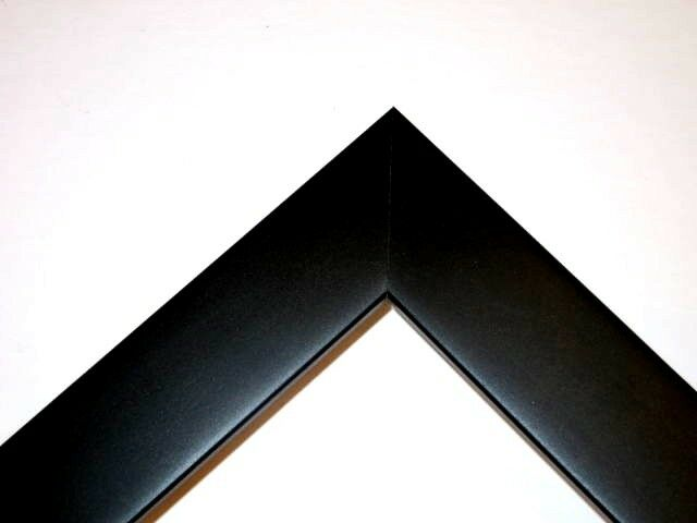 Flat Black Custom Solid Wood Picture Frames