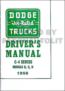 1956 dodge pickup truck owners manual 56 owner user guide book ebay rh ebay com dodge journey 2015 user guide 2012 dodge journey user guide