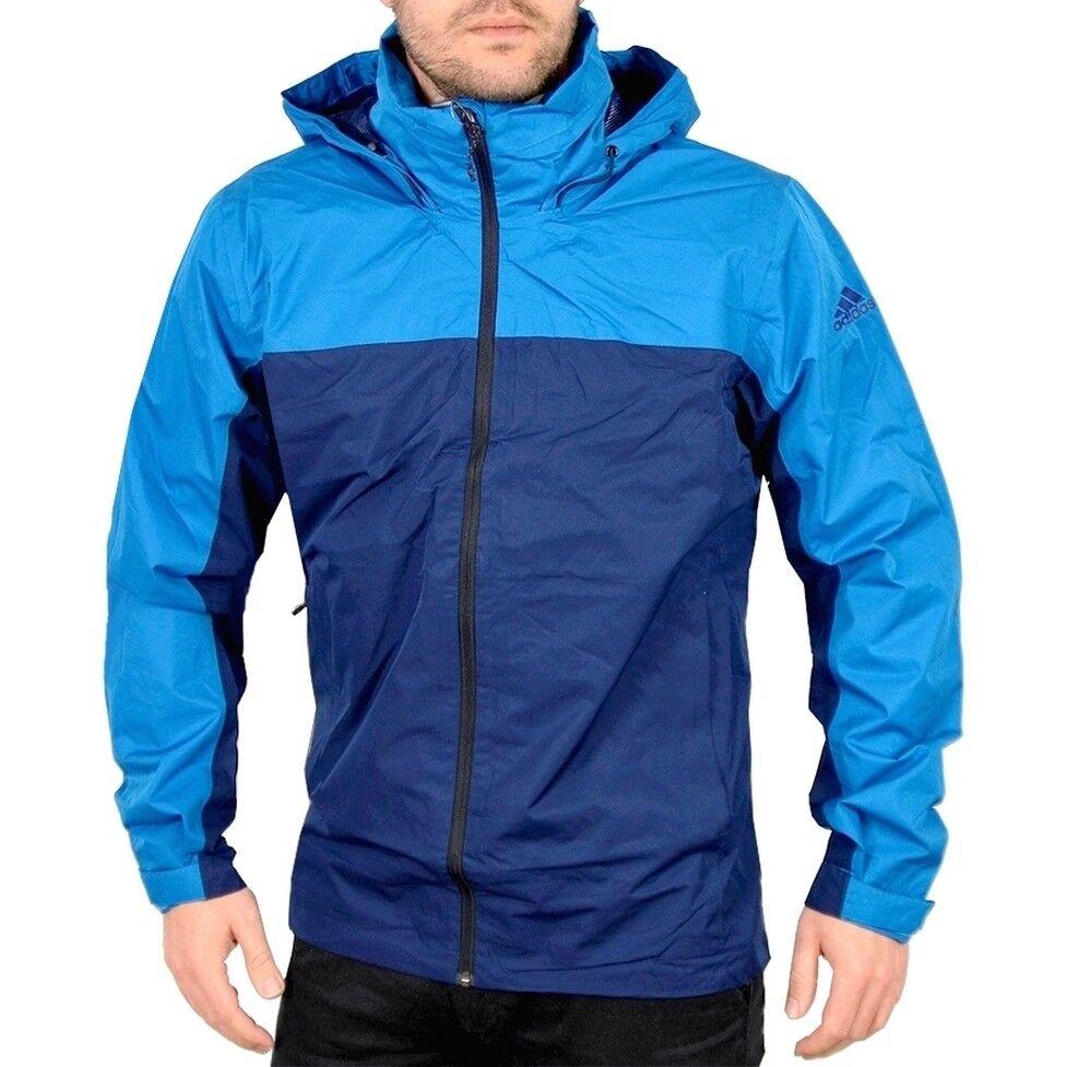 Adidas Terrex Wandertag Outdoor Jacke Wanderjacke Windjacke Regenjacke navy blau