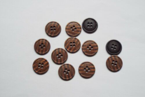 8pc 15mm Copper Stripe Metal Blazer Suit Cardigan Knitwear Children Button 1112