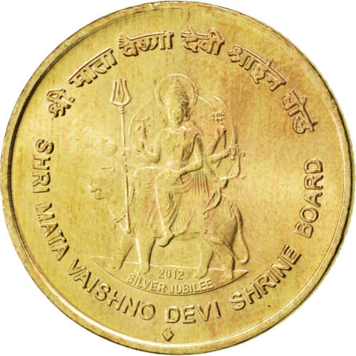 #86991 India, 5 Rupees, 2012, KM #New, MS63, NickelBronze, 5.86