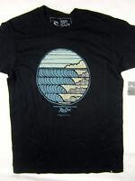 Rip Curl Surf Line Up Standard Fit Short Sleeve T Shirt Men's Black Size Medium