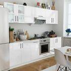 8 Pcs High Gloss White Kitchen Cabinet Unit 260 Cm Pre-built Modern