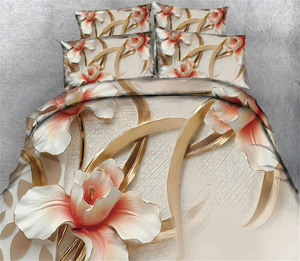 Brilliant Petals 3D Printing Duvet Quilt Doona Covers Pillow Case Bedding Sets