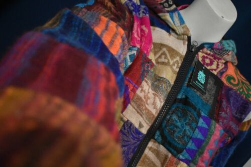 Spessa nepalese Stile Patchwork Cappotto