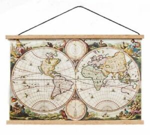 1-12-Scale-Dolls-House-Ancient-World-Map-Wall-Hanging-School-Accessory