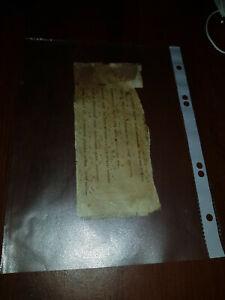 Fast-1000-Jahre-alt-Handschrift-Fragment-auf-Pergament-mit-Neumen-Osterreich